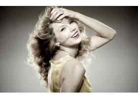 人,泰勒斯威夫特,美女,歌手,在头上的手,名人,长发,微笑,看着观众