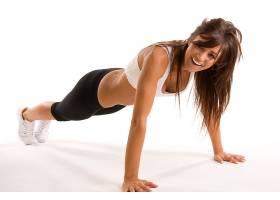 人,瑜珈裤,黑发,微笑,运动文胸,笑,运动,长发,美女,健身模特10987