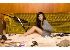 人,瓦莱丽Poxleitner,美女,黑发,腿,模特,在地上,赤脚62075