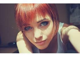 人,美女,拉娜Branishti,红发,短发,冲孔,看着观众,面对20963
