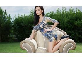 人,美女,模特,黑发,凯蒂菲,短剑,双手放在臀部,扶手椅20229