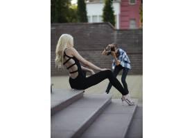 人,美女,摄影师,金发,坐在,模特39651