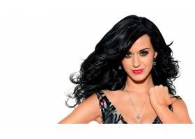 人,美女,名人,黑发,项链,凯蒂佩里,歌手,看着观众,白色背景,微笑,