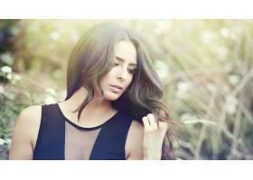 人,美女,模特,黑发,望着远处,长发29564