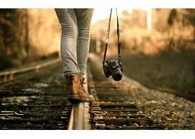 人,美女,相机,铁路,教规,户外的女人,摄影师,铁轨52171