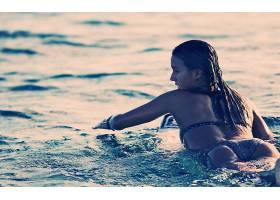 人,比基尼泳装,屁股,冲浪,潮湿的身体,水,户外的女人,在户外,美女