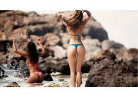 人,比基尼泳装,屁股,腿,美女,差距,飞溅,户外的女人,模特,珊瑚礁