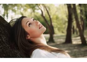 人,美女,模特,黑发,罗蕾娜加西亚,面对,户外的女人,树木72221