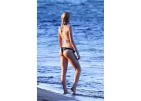 人,比基尼泳装,海滩,金发,美女,模特,户外的女人,湿的头发,潮湿的