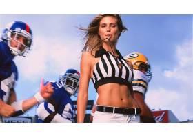 人,海蒂克鲁姆,美式足球,制服,肚皮,黑发,美女51655