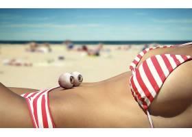 人,比基尼泳装,眼球,眼睛,海滩,美女,分裂,模特,sideboob72360