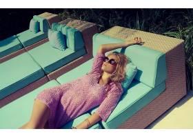 人,美女,墨镜,戴眼镜的美女,椅子,金发,模特25720