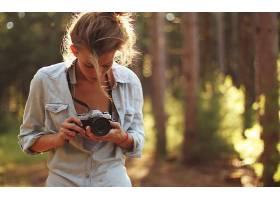 人,摄影,美女,相机,森林36361图片