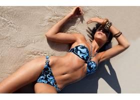 人,游泳衣,比基尼泳装,美女,潮湿的身体,水,砂,手镯30088