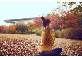 人,秋季,美女,黑发,亚洲,户外的女人29687