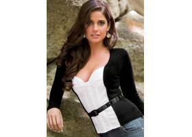 人,模特,Carla Ossa,美女,长发,黑色的毛衣,牛仔裤,黑发,张开嘴25