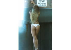 人,美女,比基尼泳装,金发,长发,白色内裤,模特38999