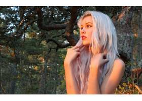 人,米兰达赫德曼,金发,Mirish,白色的头发,户外的女人,美女,模特,