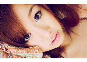人,模特,亚洲,美女,面对,看着观众,红发65816