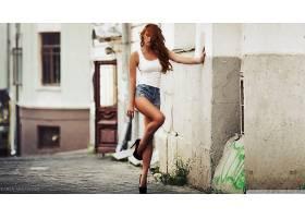 人,模特,凯伦阿布拉扬,红发,美女,高跟鞋,短裤,金发,黑发,紧身衣,