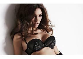 人,美女,胸罩,黑色内衣,俯卧撑胸罩,模特,化妆,黑发,西尔维娅季米