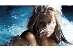 人,美女,布鲁克林Decker,面对,金发,水,模特61101