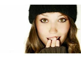 人,美女,帽子,面对,长发,简单的背景,白色背景21142