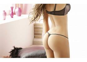 人,屁股,金发,丁字裤,黑色内衣,卡塔利娜Otalvaro,美女,模特35690