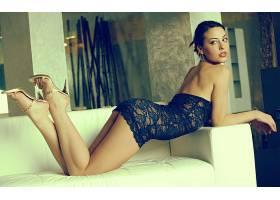 人,美女,罗蕾娜加西亚,黑发,黑色内衣,女用贴身内衣裤,透明的衣服