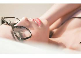 人,模特,狐狸女孩,简单的背景,美女,眼镜,戴眼镜的美女,面对67774