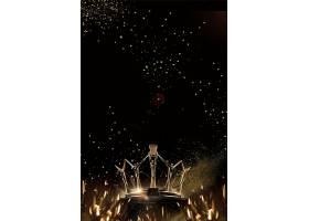 黑金皇冠海报背景模板