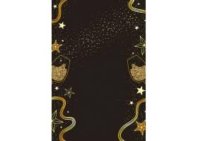 酒杯花卉黑金海报背景模板