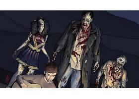 漫画壁纸,夜晚,关于,这,活的,死亡的,壁纸(19)