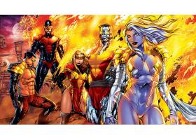 漫画壁纸,x战警,独眼巨人,巨人,凤凰,女子名,严寒,Namor,这,水手