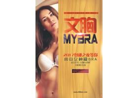 创意女性文胸宣传海报
