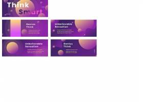 紫色facebook封面模板