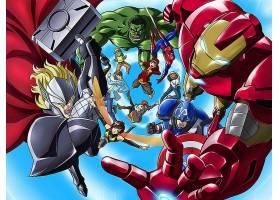 漫画壁纸,这,复仇者联盟,托尔,赫然显现,蜘蛛侠,熨斗,男人,黄蜂,