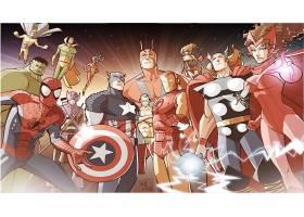 漫画壁纸,这,复仇者联盟,赫然显现,蜘蛛侠,船长,美国,熨斗,男人,