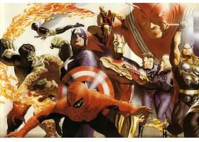 漫画壁纸,拼贴,超级英雄,赫然显现,东西,蜘蛛侠,船长,美国,人类,