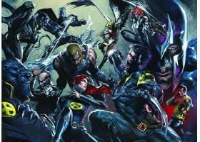 漫画壁纸,x战警,金刚狼,蓝魔人,野兽,壁纸