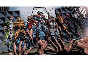 漫画壁纸,黑暗,复仇者联盟,船长,奇迹,熨斗,男人,托尔,金刚狼,鹰