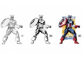 漫画壁纸,船长,美国,壁纸(18)
