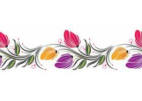 彩色花朵花边设计