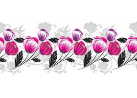 郁金香花朵边框设计