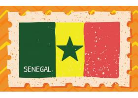 创意外国国旗邮票设计元素插画