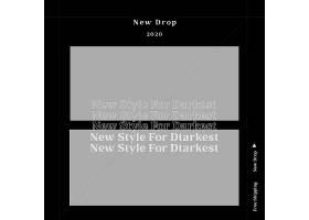 黑白创意简洁个性英文商品促销通用模板