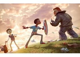漫画壁纸,船长,美国,壁纸(20)