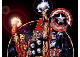 漫画壁纸,复仇者联盟,这,复仇者联盟,熨斗,男人,托尔,船长,美国,