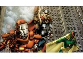 漫画壁纸,复仇者联盟,这,复仇者联盟,熨斗,男人,托尔,视力,壁纸