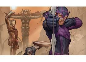 漫画壁纸,复仇者联盟,这,复仇者联盟,熨斗,男人,船长,美国,鹰眼,